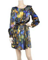 Erdem - Black Georgie Floral Midi Dress - Lyst