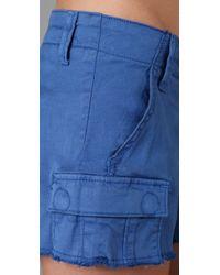 Genetic Denim | Blue The Survivor Cutoff Cargo Shorts | Lyst