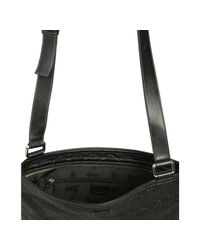 Gucci - Black Ssima Medium Flat Messenger Bag for Men - Lyst