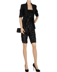 Halston | Black Sequin-embellished Strapless Jumpsuit | Lyst