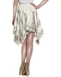 Lover | White Fields Hanky Cotton Skirt | Lyst