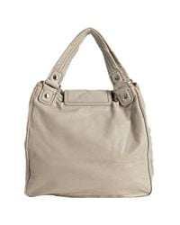 Marc By Marc Jacobs | Gray Elephant Grey Leather Totally Turnlock Kiki Shoulder Bag | Lyst