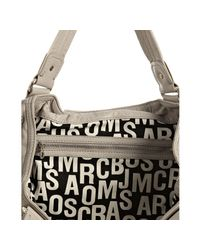 Marc By Marc Jacobs - Gray Elephant Grey Leather Totally Turnlock Kiki Shoulder Bag - Lyst