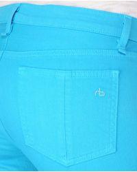 Rag & Bone - Blue Skinny - Bright Turquoise - Lyst