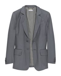 See By Chloé | Gray Wool Pinstripe Boyfriend Jacket | Lyst