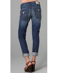 True Religion - Blue Cameron Boyfriend Jeans - Lyst