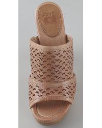 Frye | Brown Sage Cutout High Heel Sandals | Lyst