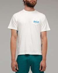 Lightning Bolt | White Pocket Shop Tee for Men | Lyst