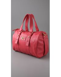 Marc By Marc Jacobs | Red Totally Turnlock Shifty Satchel | Lyst