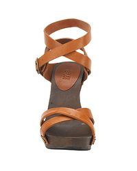 See By Chloé | Brown Tan Wood Wedge Sandal | Lyst