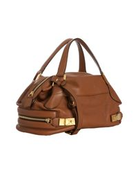 Chloé | Brown Nutmeg Leather Cary Zipper Crossbody Satchel | Lyst