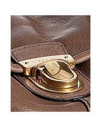 Prada - Brown Stone Deerskin Pushlock Shoulder Bag - Lyst