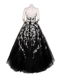 Marchesa - Black Tulle and Sequin Gown - Lyst