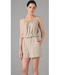 Theory | Natural Larianna Cami Romper | Lyst