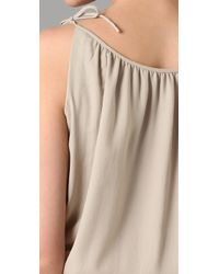 Theory - Natural Larianna Cami Romper - Lyst