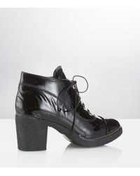 Carvela Kurt Geiger | Scarp Black Patent Boot | Lyst