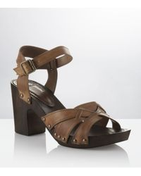 Carvela Kurt Geiger | Brown Krumble Leather Sandal | Lyst