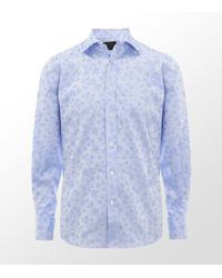 Duchamp | Blue Floral Jacquard Shirt for Men | Lyst