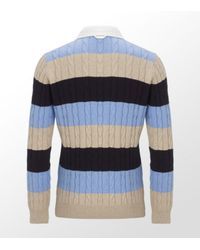 GANT | Multicolor Cable Knit Rugby Jersey for Men | Lyst