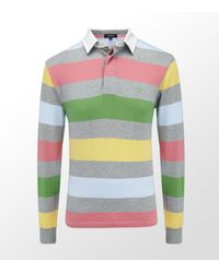 GANT | Multicolor Striped Rugby Sweater for Men | Lyst