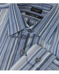 Paul Smith | Blue Slim Fit Signature Stripe Shirt for Men | Lyst
