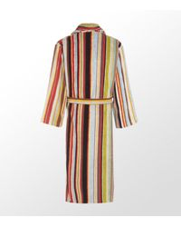 Paul Smith | Orange Striped Towelling Robe for Men | Lyst