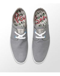 Paul Smith | Gray Musa Canvas Plimsoll Sneaker for Men | Lyst