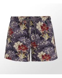 Paul Smith | Purple Flower Swim Short for Men | Lyst