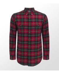 Ralph Lauren | Red Luxury Flannel Shirt for Men | Lyst