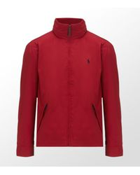 Polo Ralph Lauren | Red Perry Windbreaker with Hood for Men | Lyst
