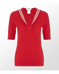 Sonia by Sonia Rykiel | Red Sailor Top | Lyst