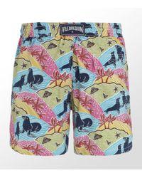 Vilebrequin | Multicolor Moorea Les Otaries Seals Swim Trunks for Men | Lyst