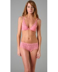 Calvin Klein | Pink Underwear Perfectly Fit Bouquet All Lace Plunge Bra | Lyst
