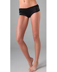 La Fee Verte | Black Silk Boy Shorts | Lyst