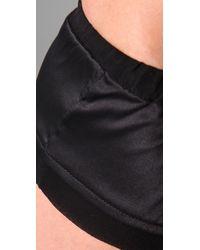 La Fee Verte - Black Silk Boy Shorts - Lyst