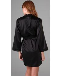 La Fee Verte - Black Silk Robe - Lyst