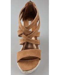 Twelfth Street Cynthia Vincent - Brown Juno Espadrille Wedge - Lyst