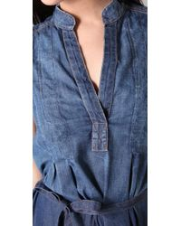 Current/Elliott | Blue Craftsman Denim Dress - Dtin | Lyst