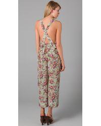 Dolce & Gabbana - Green Floral Jumpsuit - Lyst