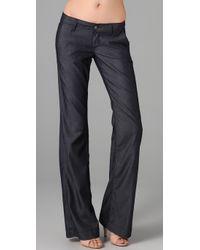 PAIGE - Blue Bentley Wide Leg Trouser Jeans - Lyst