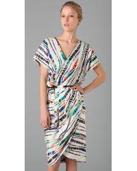 Rachel Roy | Multicolor Print Drape Tulip Dress | Lyst