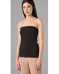 T By Alexander Wang - Black Cotton Modal Tube Top - Lyst