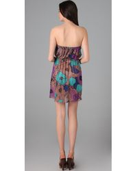 Tibi   Multicolor Giant Kamara Print Strapless Cover Up Dress   Lyst