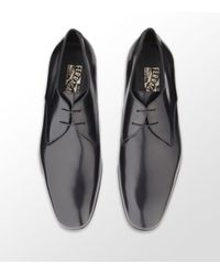 Ferragamo | Black Andrea Derby Shoe for Men | Lyst