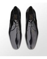 Ferragamo | Black Andrea Patent Derby Shoe for Men | Lyst