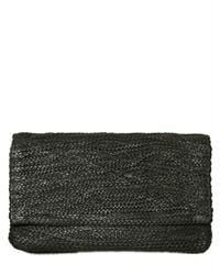 Jay Ahr | Black Braided Leather Clutch | Lyst