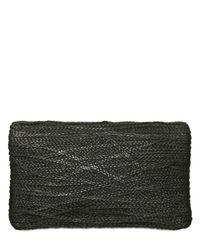 Jay Ahr - Black Braided Leather Clutch - Lyst