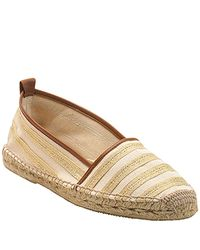 kate spade new york | Metallic Lido - Gold Canvas Closed Toe Espadrille | Lyst
