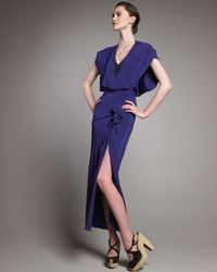Roland Mouret | Blue Coppalia Ruffled Dress | Lyst