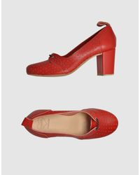 Swedish Hasbeens - Red Laced Shoes - Lyst